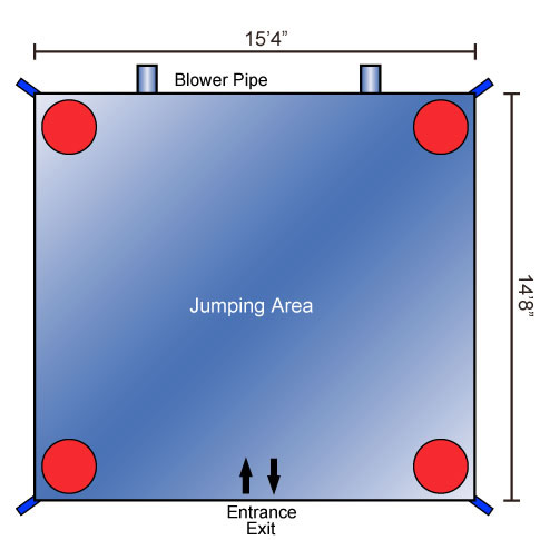 Large Bounce House Schematics