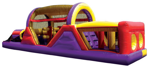 Backyard Obstacle Challenge Bounce House